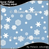Snow Flakes Backing paper
