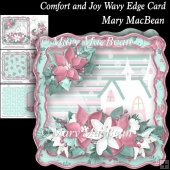 Comfort and Joy Wavy Edge Card