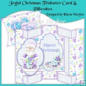 Joyful Christmas Trishutter Card & Pillowbox