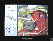 Tobias The Tank Engine Thank You Card JPEG