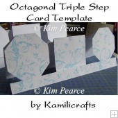 Octagonal Triple Step Card Template