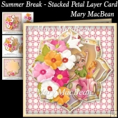 Summer Break - Stacked Petal Layer Card