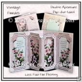 Vintage Florals Double Aperture Pop-Out Card