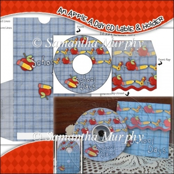 An Apple A Day CD Label & Holder