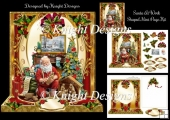 Santa At Work Mini Page Kit