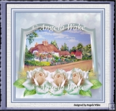 English cottage and roses