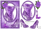 purple basque with purple rose and accessories A5