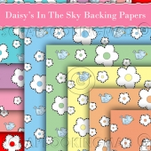 10 Daisy's In The Sky Backing Papers Download (C186)