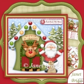 Reindeer in Training 7.5 Christmas Decoupage Kit
