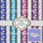 Faux Rose Lace Backing Papers - Set One - PU- 300 DPI