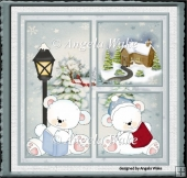 Polar bear vintage Christmas