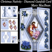 Christmas Nativity - Diamond Gatefold Card