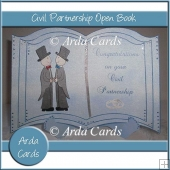 Civil Partnership Open Book Card & Stand