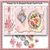 Roses On A Shaped Panel Card Front