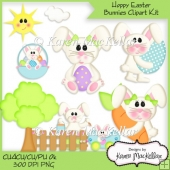 CU4CU Hoppy Easter Bunny Clipart Designer Resource