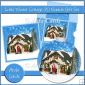 Little Winter Cottage 3D Bauble Gift Set