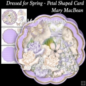 Dressed for Spring - Petal Shaped Card