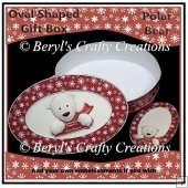 Oval Shaped Gift Box - Polar Bear