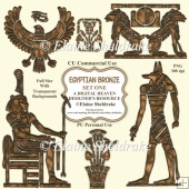 Egyptian Bronze - Set One - CU Designer Resource For Commercial