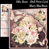 Silky Roses - Shell Front Card