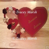 Double Heart Shaped Card Template and Box
