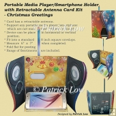 Portable Media Player/Smartphone Holder - Christmas Greetings