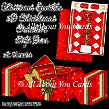 Christmas Sparkle Christmas Cracker Gift Box