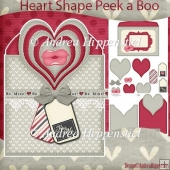 Heart Shape Peek a Boo Card Kiss me