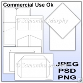 Stubby Diamond Top Card Kit & Envelope Template Commercial Use