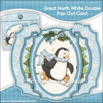 Great North White Double Pop Out Card & Envelope