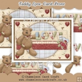 Teddy Love 1 - Card Front & Decoupage