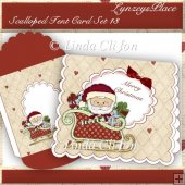 Scalloped Tent Card Set 13