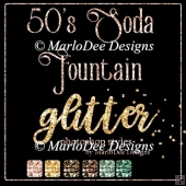 1950 Soda Fountain Colors - Glitter Photoshop Styles