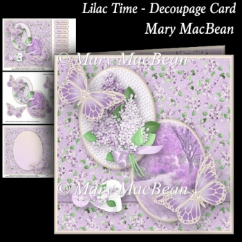 Lilac Time - Decoupage Card