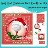 Golf Ball Christmas 8inch Cardfront Kit