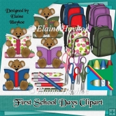 First School Days Clipart