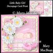 Little Baby Girl Decoupage Card Front