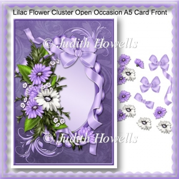 Lilac Flower Cluster Open Occasion A5 Card Front
