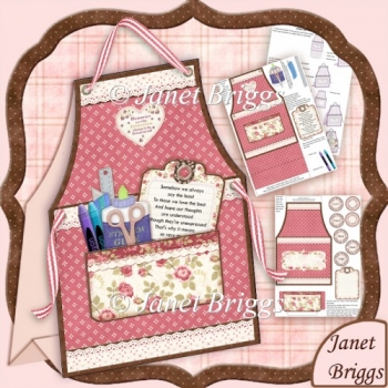 Crafter's Apron Ladies Tent Card Mini Kit