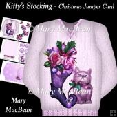 Kitty's Stocking - Christmas Jumper Card