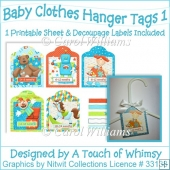 A4 - Baby Clothes Hanger Tags 1