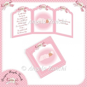 BABY GIRL TRI-CARD AND BOX