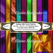 Indian Silk Swirls - Faux Fabrics - Ten 12 x 12 Backing Papers