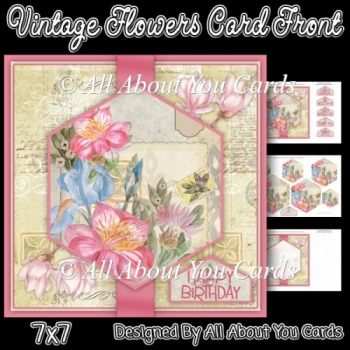 Vintage Flowers Card Front