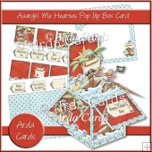Aaargh Me Hearties Pop Up Box Card
