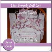 Lilac Butterfly Shelf Card