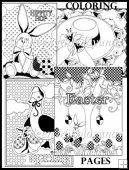 Egg-stra Special Easter Bunny Coloring Book Pages