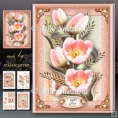 Pink Tulips Card Mini Kit