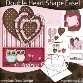 Double Heart Shape Easel Card Owlways