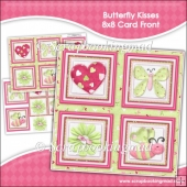 Butterfly Kisses 8x8 Card Front